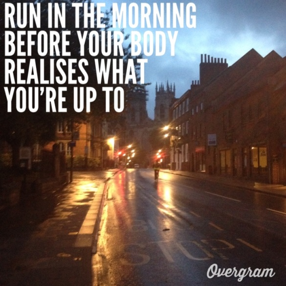 York in the early morning, made into a motivational pic.